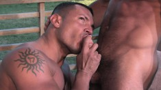Cute guy welcomes a hard cock up his ass and a hot load on his chest